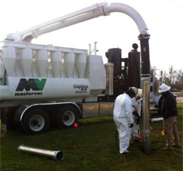 Gap Vax Hydro Excavator doing Pot Hole Work Locating Underground Utilities